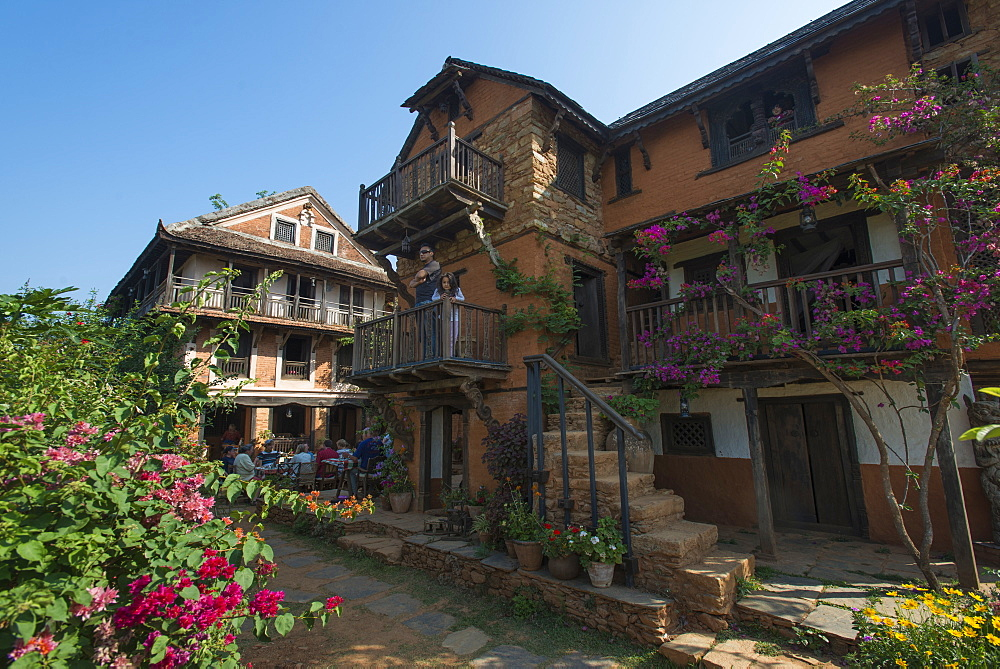 An historical Newari farmhouse in the traditional village of Nuwakot, Langtang Region, Nepal, Asia
