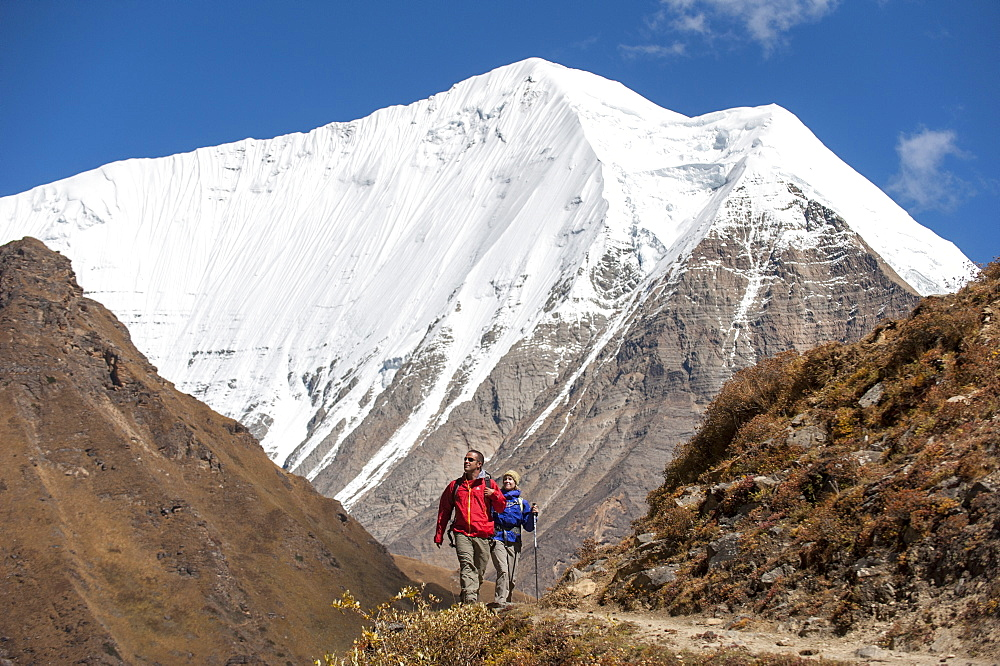 Trekking in the Kagmara valley in Dolpa, a remote region of Nepal