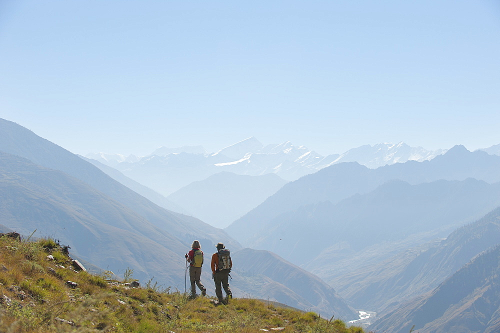 Trekking in the Juphal valley in Dolpa, a remote region of Nepal
