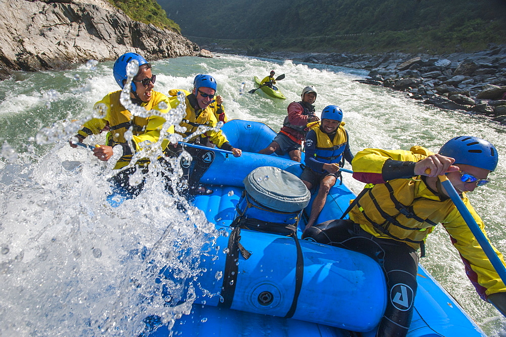 Rafting trip on the Trisuli River in Nepal, Asia