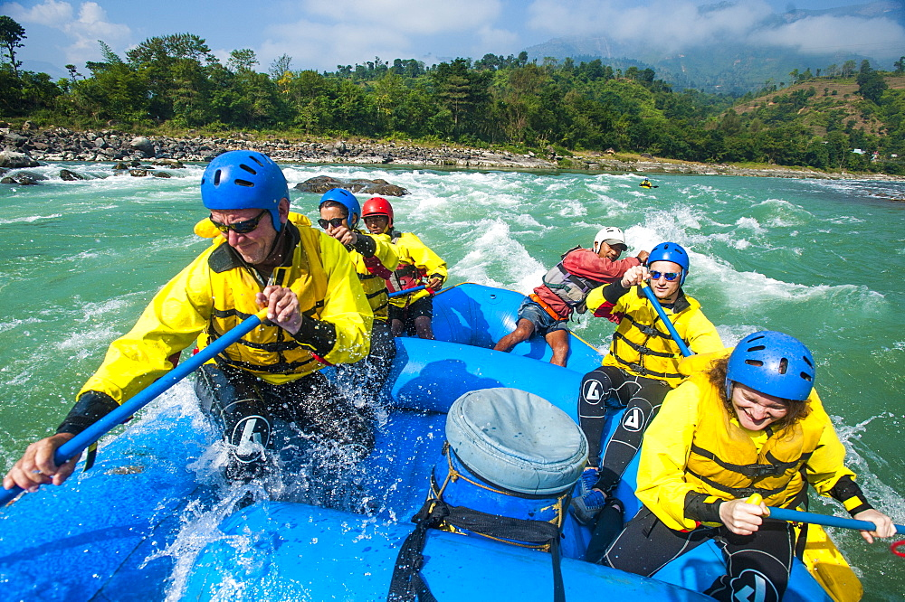 Rafting on the Trisuli river in Nepal