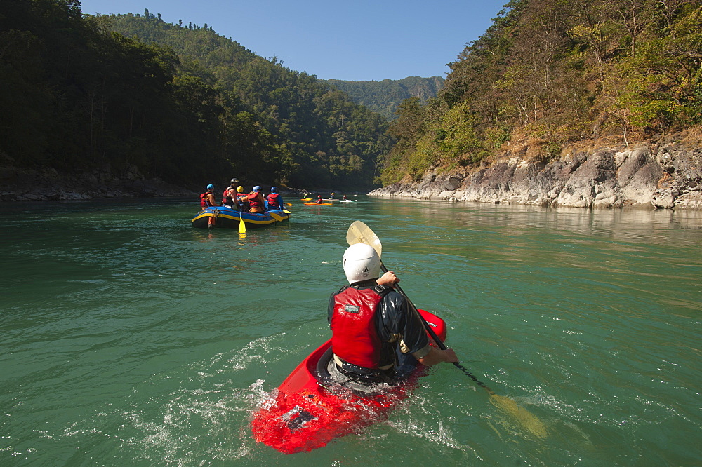 A rafting expedition down the Karnali River, west Nepal, Asia