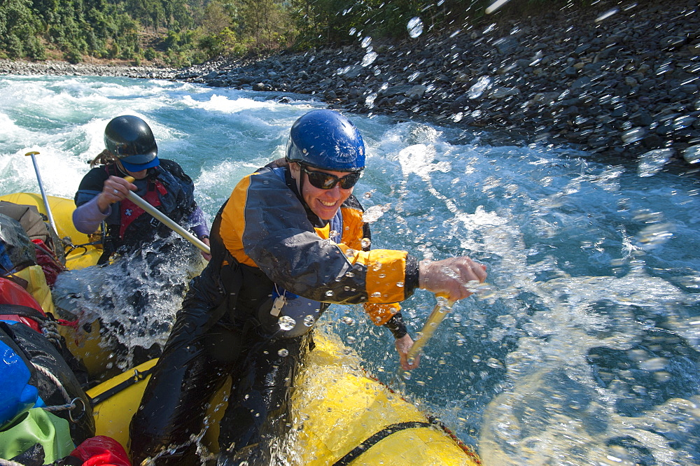 Rafting on the Karnali River, west Nepal, Asia