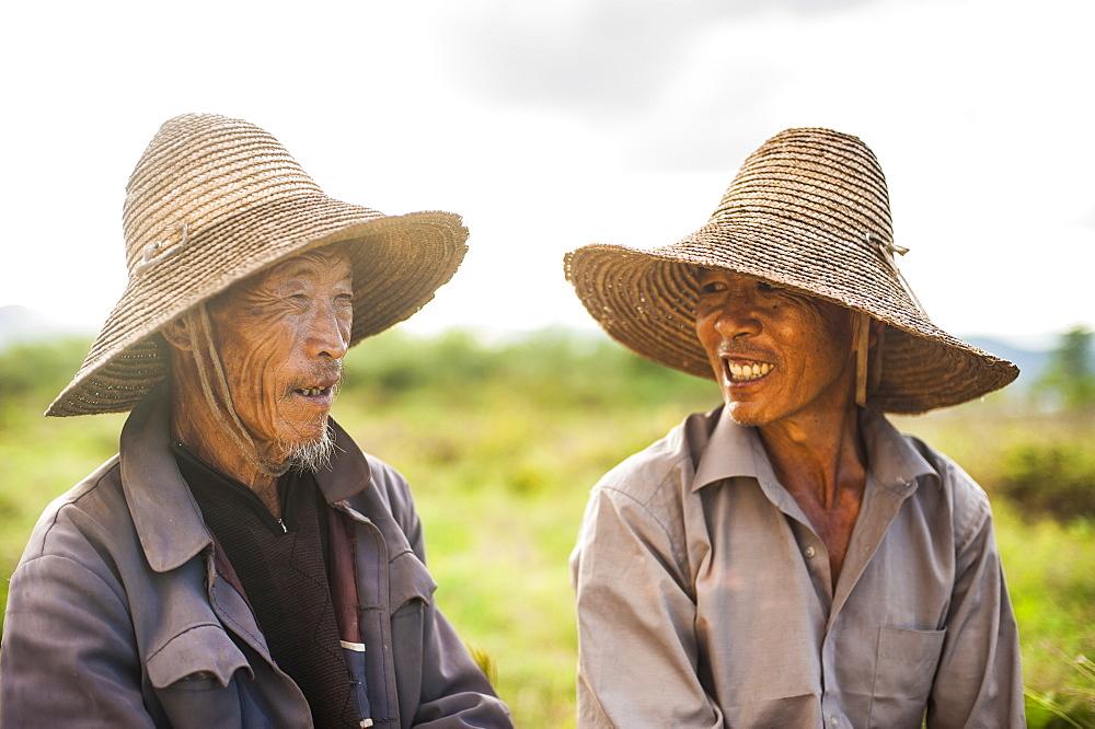 Farmers near Yuanmou, Yunnan Province, China, Asia
