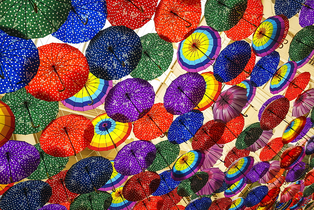Umbrella display in the Dubai Mall, Dubai, United Arab Emirates, Middle East