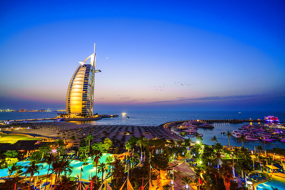 Burj Al Arab, Jumeirah Beach, Dubai, United Arab Emirates, Middle East
