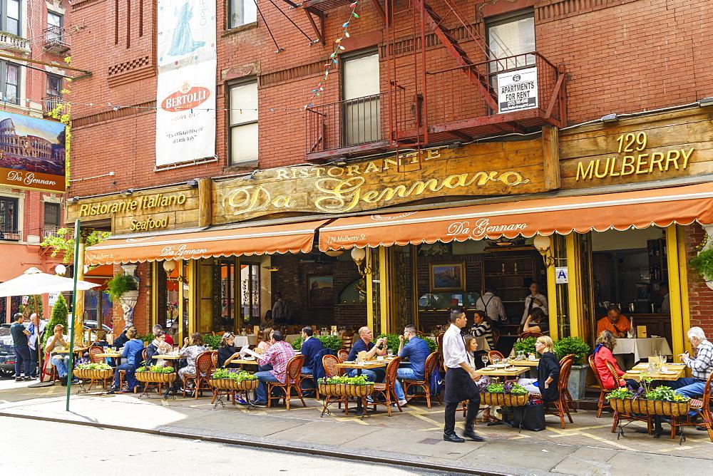 Italian restaurant in Little Italy, Manhattan, New York City, United States of America, North America