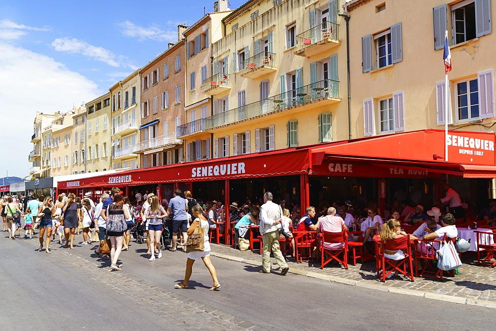 Quay Jean Jaures, Saint Tropez, Var, Cote d'Azur, Provence, French Riviera, France, Mediterranean, Europe