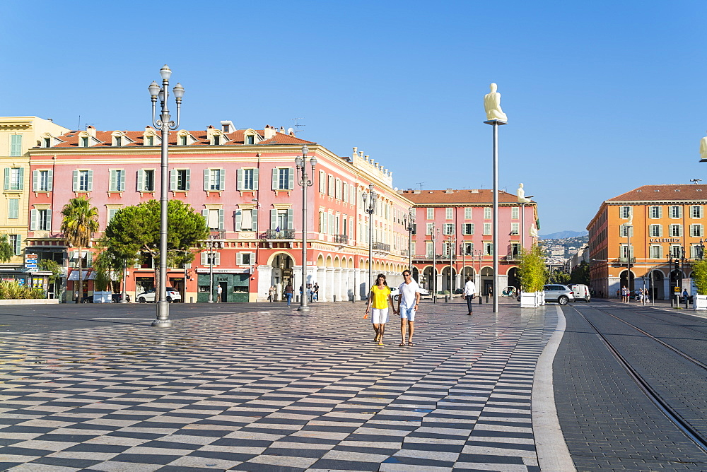 Place Messina, Nice, Alpes Maritimes, Cote d'Azur, Provence, France, Europe