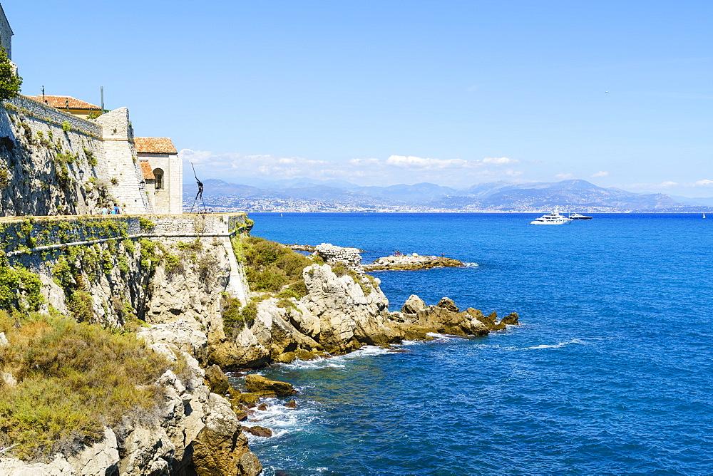 City walls, Antibes, Cote d'Azur, France