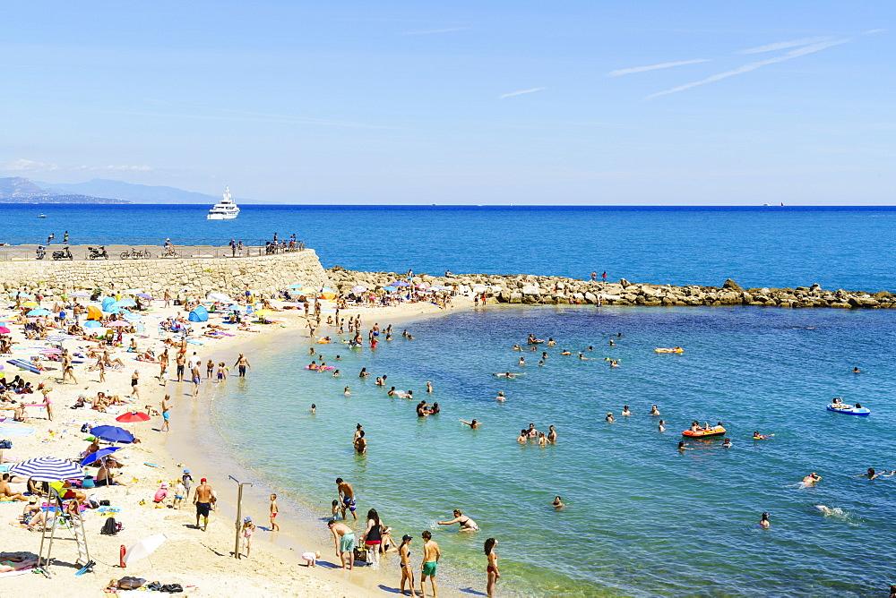 Plage de la Gravette, Antibes, Cote d'Azur, France