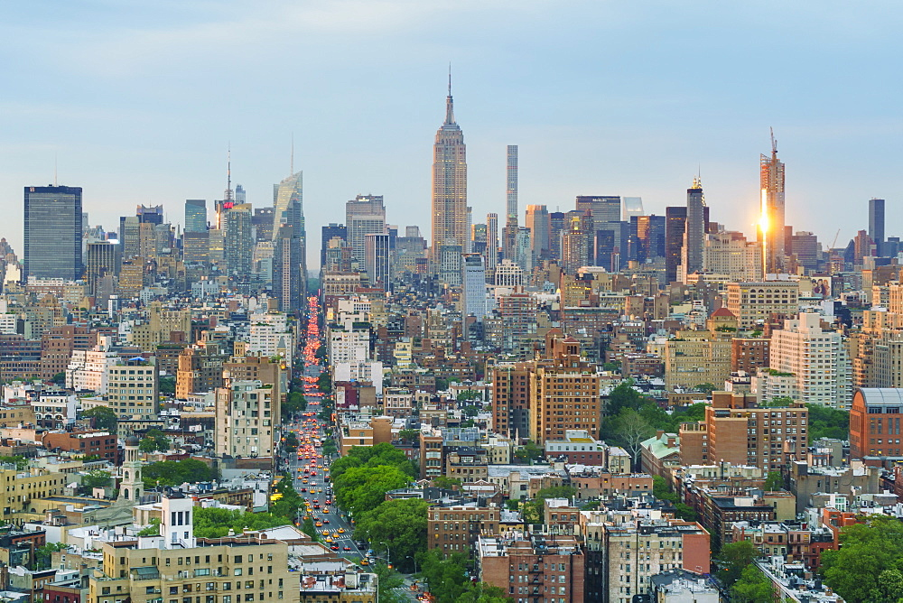 The Empire State Building and Manhattan skyline, New York City, United States of America, North America