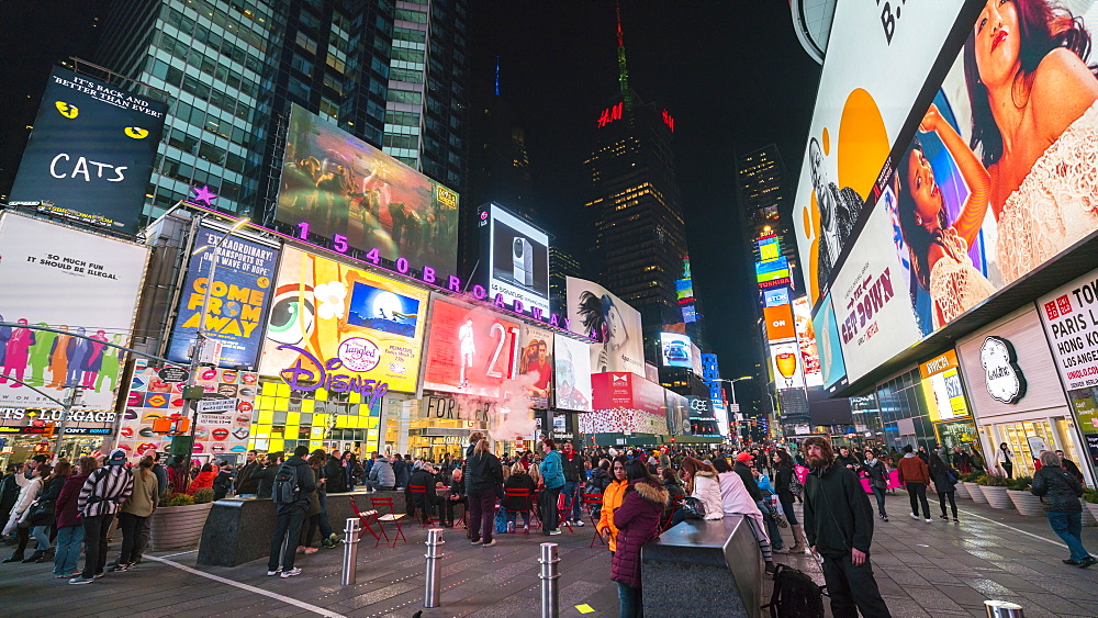 Times Square by night, New York City, USA