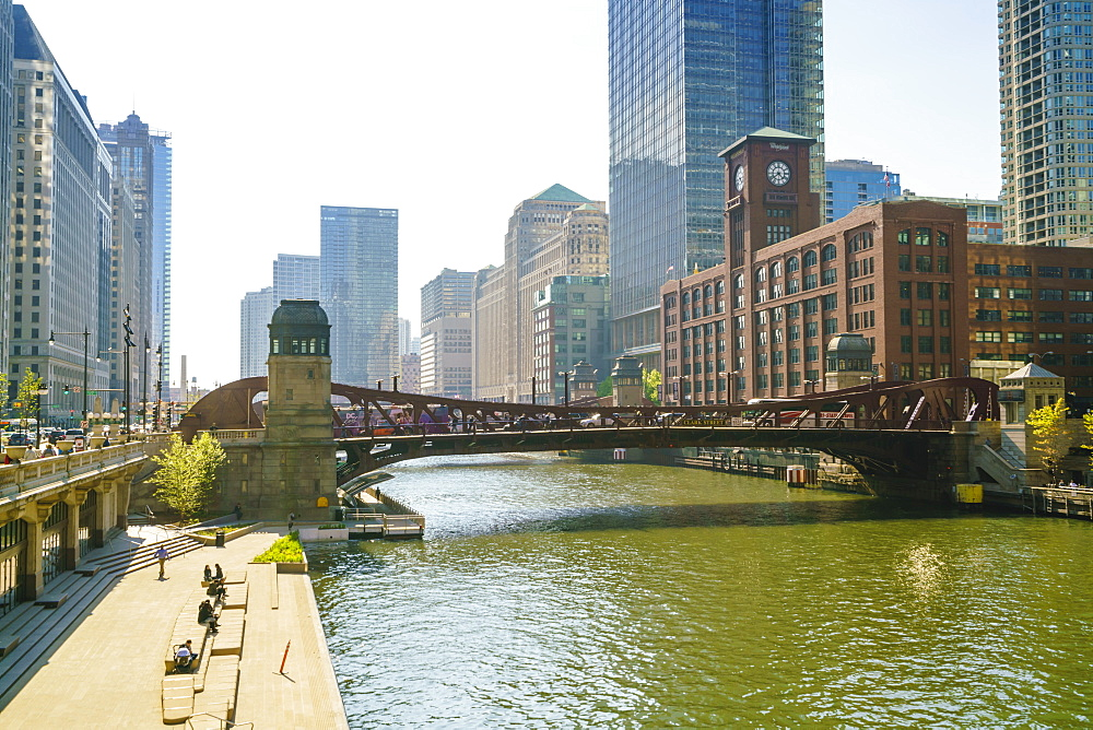 Chicago River Walk, Chicago, Illinois
