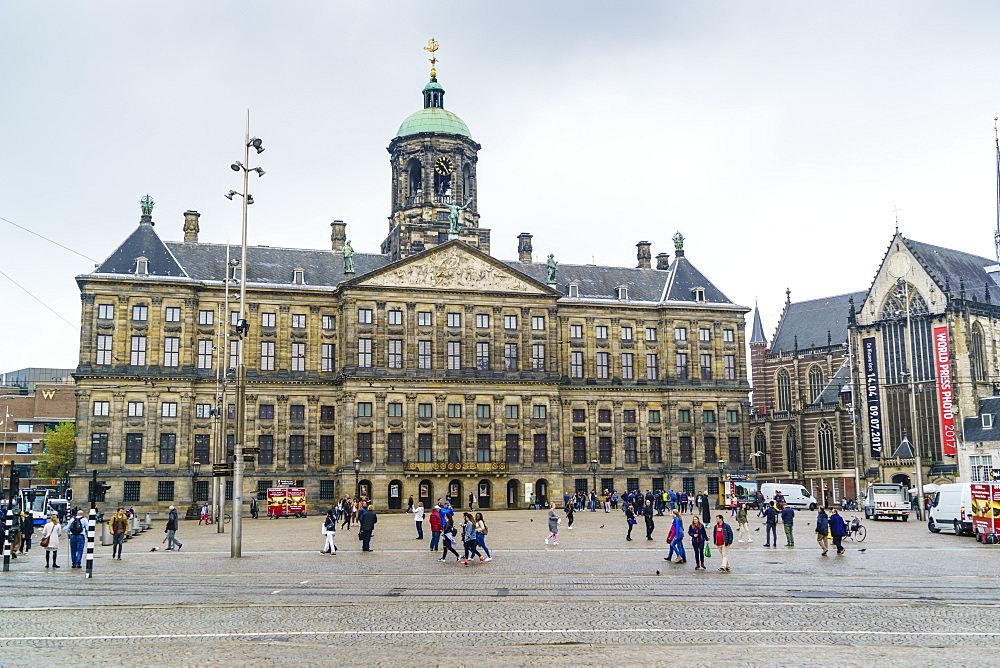 The Royal Palace in Dam Square, Amsterdam, Netherlands, Europe