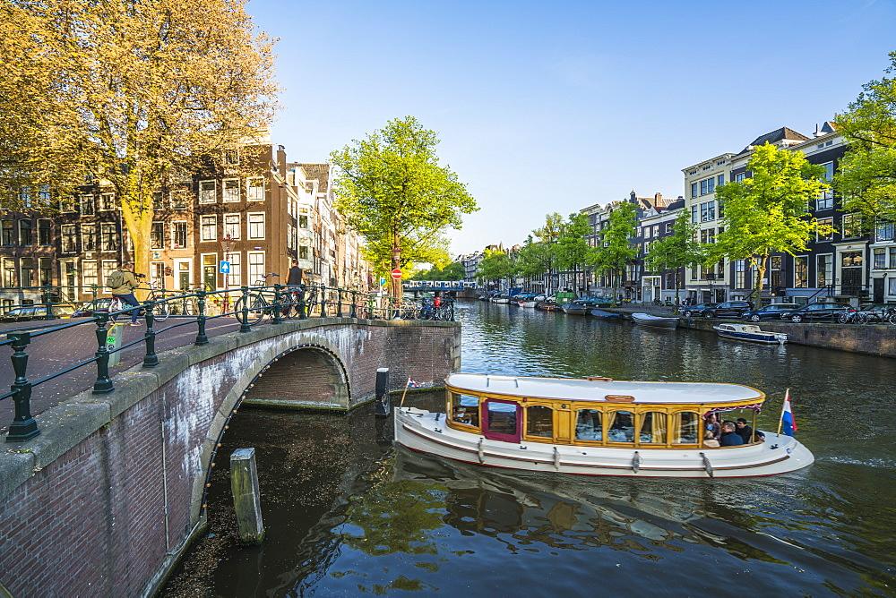 Keisersgracht Canal, Amsterdam, Netherlands, Europe