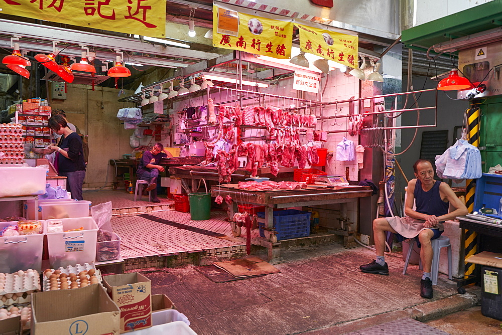 Butchers shop, Hong Kong, China, Asia