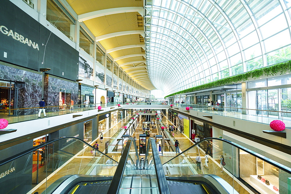 The Shoppes at Marina Bay Sands, Singapore's largest shopping mall in Marina Bay, Singapore, Southeast Asia, Asia