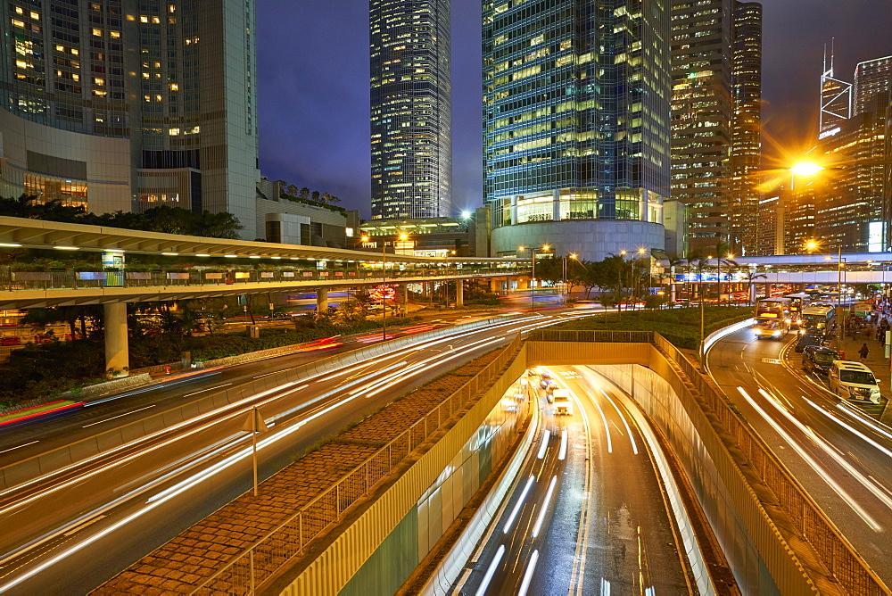 Rush hour traffic in Central, Hong Kong Island, Hong Kong, China, Asia - 1226-563