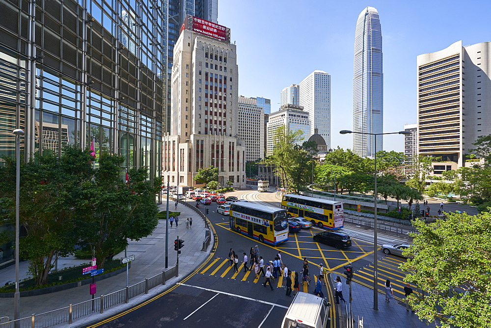Central district, Hong Kong's busy financial centre, Hong Kong Island, Hong Kong, China, Asia
