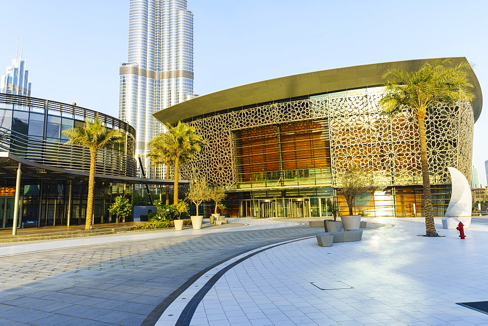 Dubai Opera, a 2000 seat performing arts centre, Dubai, United Arab Emirates, Middle East