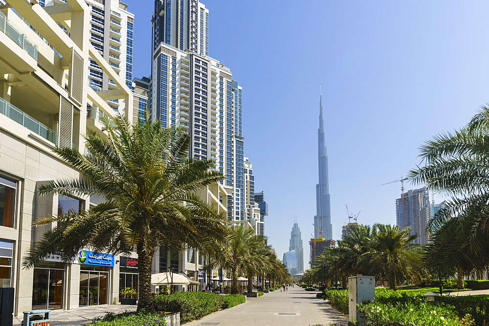 Burj Khalifa viewed from Business Bay, Dubai, United Arab Emirates, Middle East