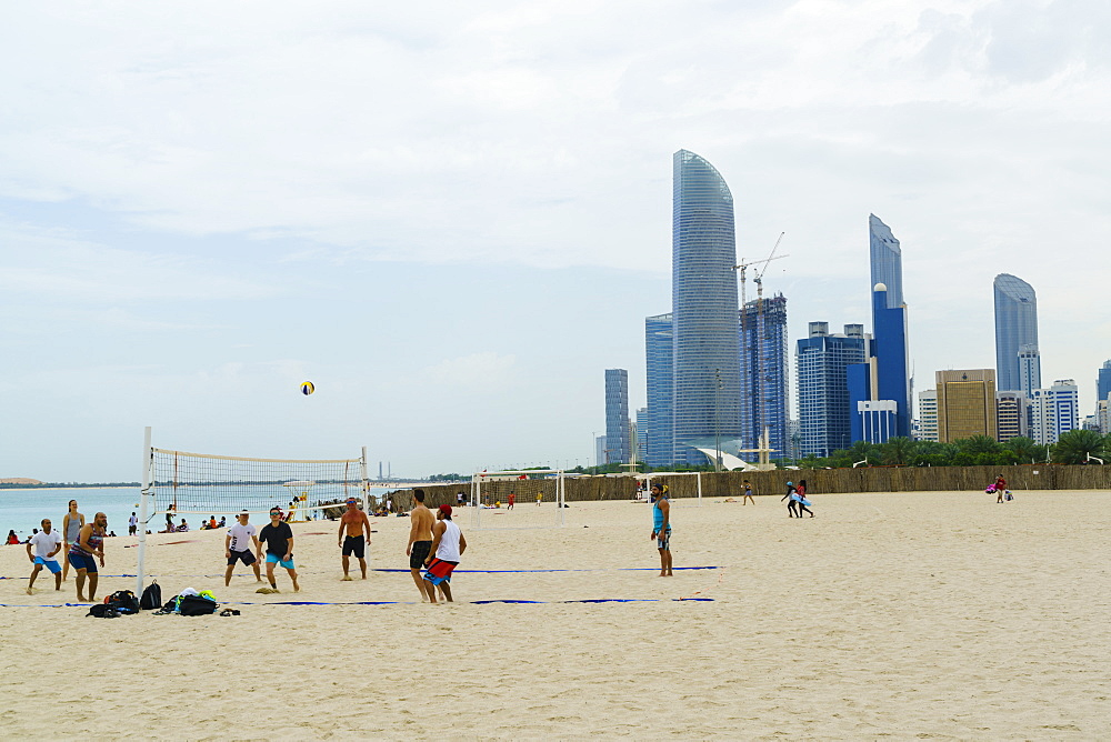 Corniche beach, Abu Dhabi, United Arab Emirates, Middle East
