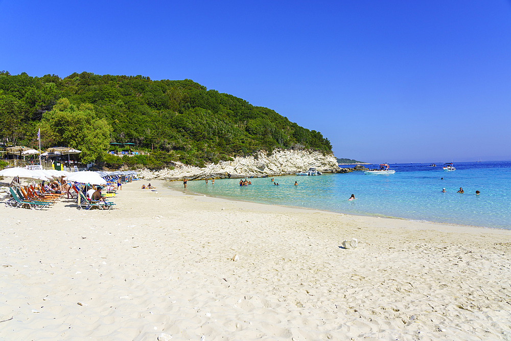 Vrika Beach, Antipaxos, Paxos, Ionian Islands, Greek Islands, Greece, Europe