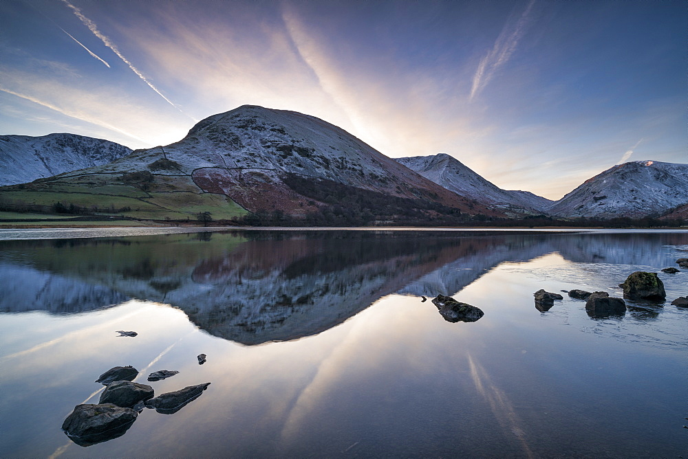 Sunrise over Brothers Water and Hartstop in Cumbria, The English Lake District, England, United Kingdom, Europe - 1228-136