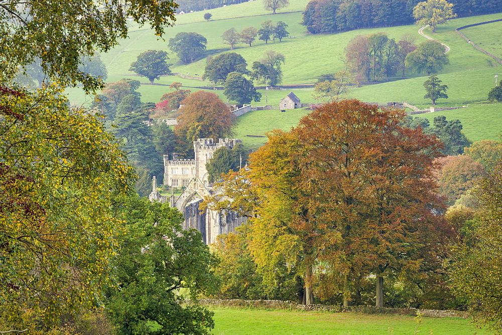 Bolton Abbey beside the River Wharfe, Wharfedale, The Yorkshire Dales National Park, England. - 1228-142