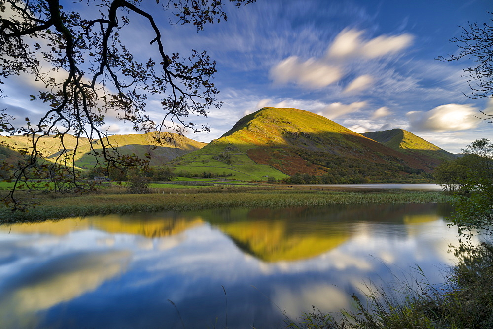 Hartstop Dodd reflected in Brothers Water, Patterdale, Lake District National Park, UNESCO World Heritage Site, Cumbria, England, United Kingdom, Europe - 1228-184