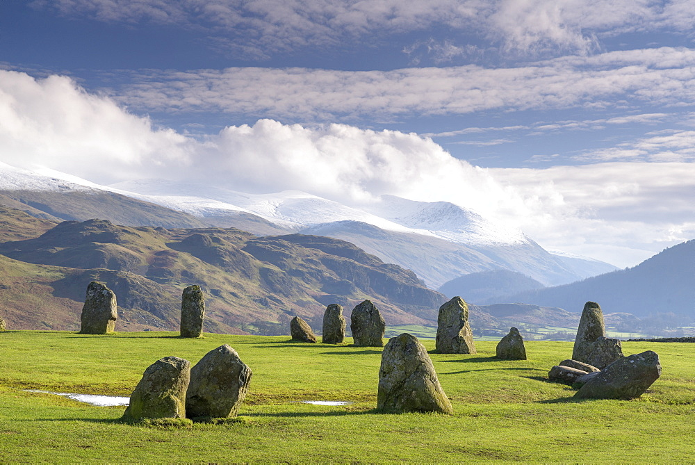 Castlerigg Stone Circle, near Keswick, Lake District National Park, Cumbria, England, United Kingdom, Europe - 1228-50