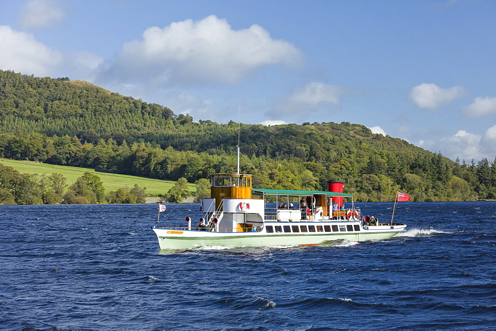 The Raven steam boat on Ullswater Cumbria - 1228-87