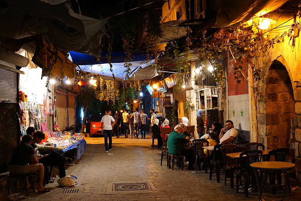 Bab Touma neighbourhood of Damascus old city, Damascus, Syria, Middle East