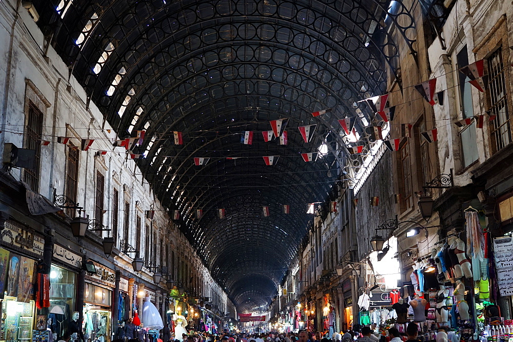 The famed Souk Hamidiyeh in Damascus, Syria, Middle East