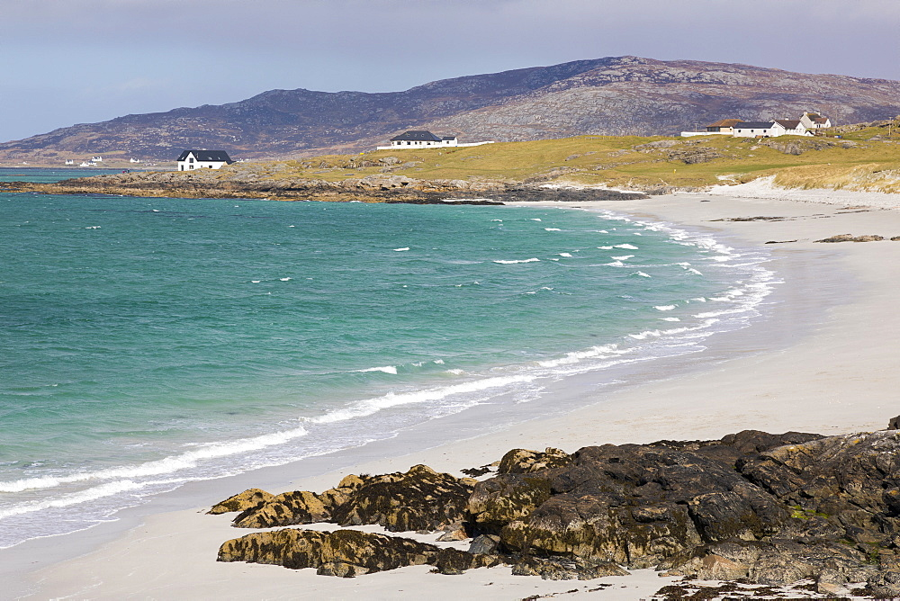 Prince's Beach (Coileag a' Prionnnsa) on the island of Eriskay in the Outer Hebrides, Scotland, United Kingdom, Europe