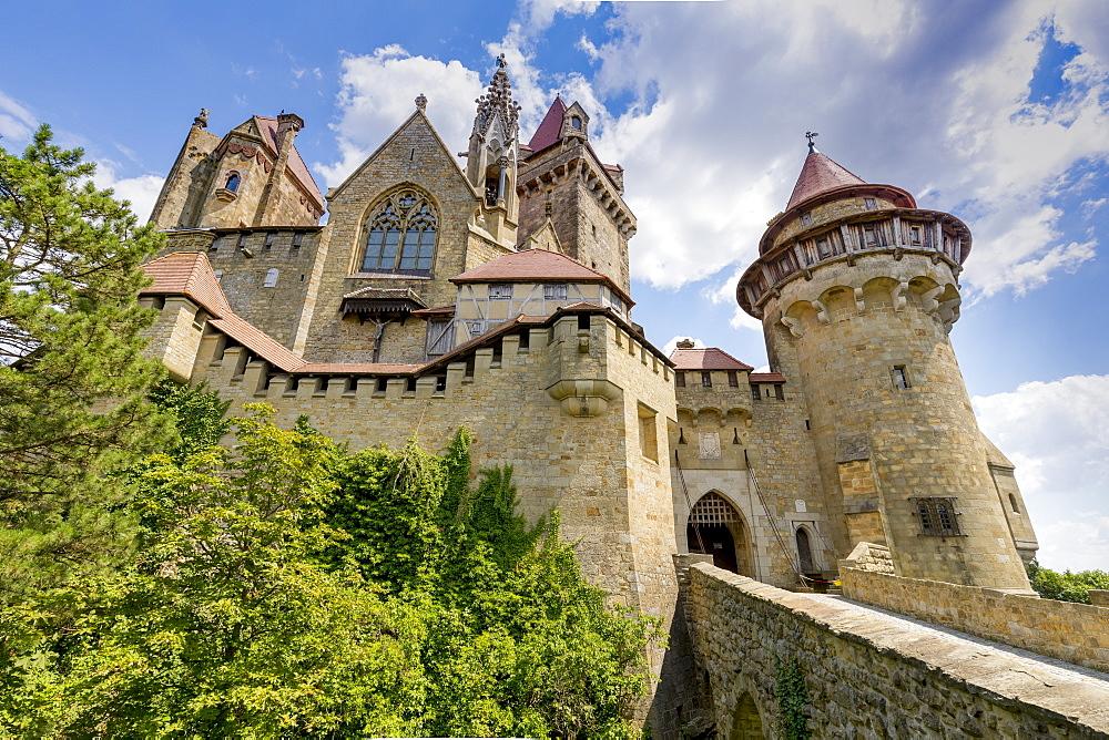Burg Kreuzenstein castle, Leobendorf, Weinviertel Region, Lower Austria, near Vienna, Austria, Europe - 1237-118