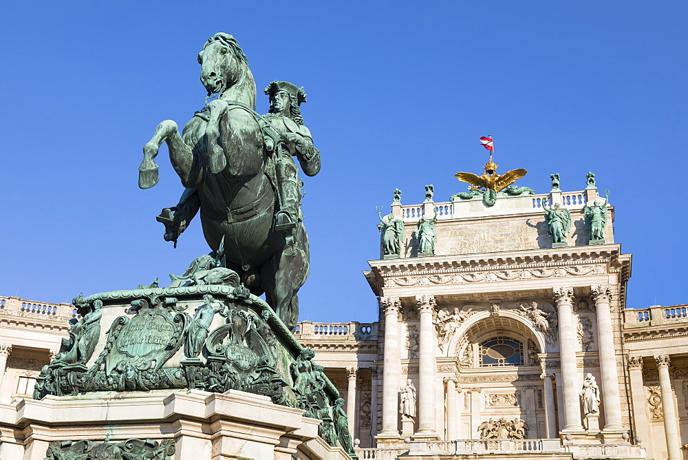 Equestrian statue of Archduke Charles, Hofburg, Vienna, Austria, Europe