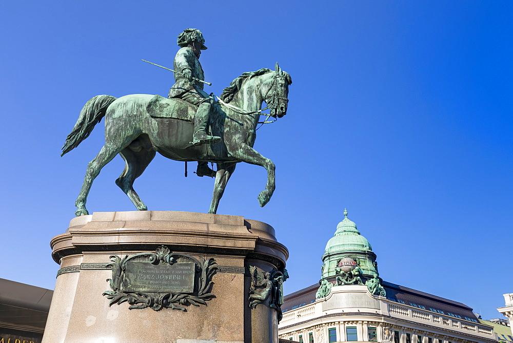 Equestrian statue of Archduke Albrecht outside Albertina Museum, Vienna, Austria, Europe