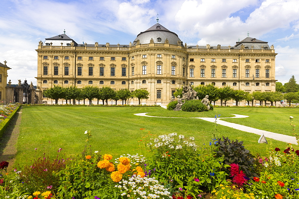 The Residence Palace, Hofgarten Park, UNESCO World Heritage Site, Wurzburg, Franconia, Bavaria, Germany, Europe - 1237-132