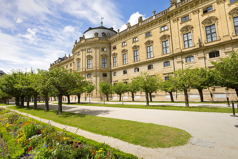The Residence Palace, Hofgarten Park, UNESCO World Heritage Site, Wurzburg, Franconia, Bavaria, Germany, Europe - 1237-133