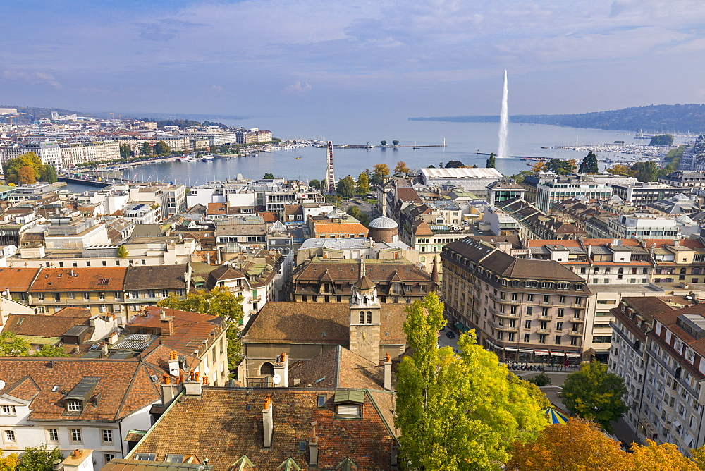 Town view from Saint Peter's Cathedral, Geneva, Switzerland, Europe. - 1237-156