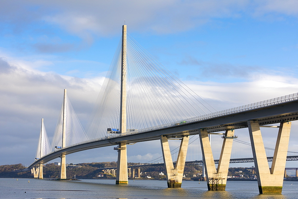 Queensferry crossing, River Forth, Scotland, United Kingdom, Europe - 1237-165