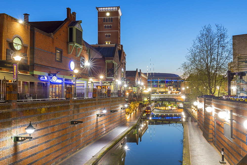 Canal Old Line, view from Broad Street, Birmingham, England, United Kingdom, Europe - 1237-188