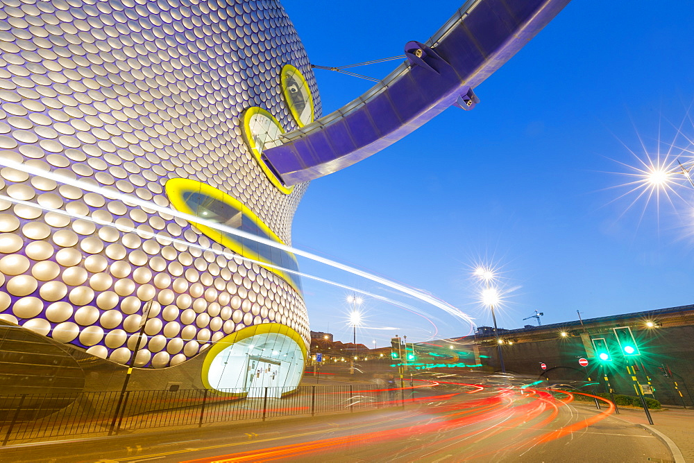 Selfridges Building at dusk, Birmingham, England, United Kingdom, Europe - 1237-193
