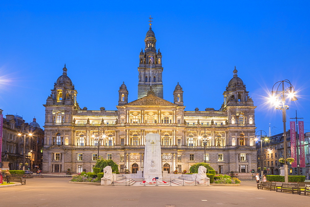Glasgow City Chambers, George Square, Glasgow, Scotland, United Kingdom, Europe - 1237-195