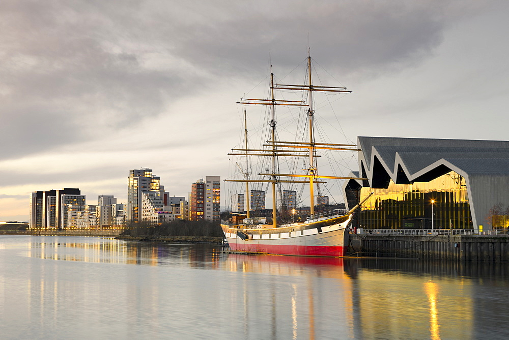 Riverside Museum, The Glenlee, River Clyde, Glasgow, Scotland, United Kingdom, Europe. - 1237-216