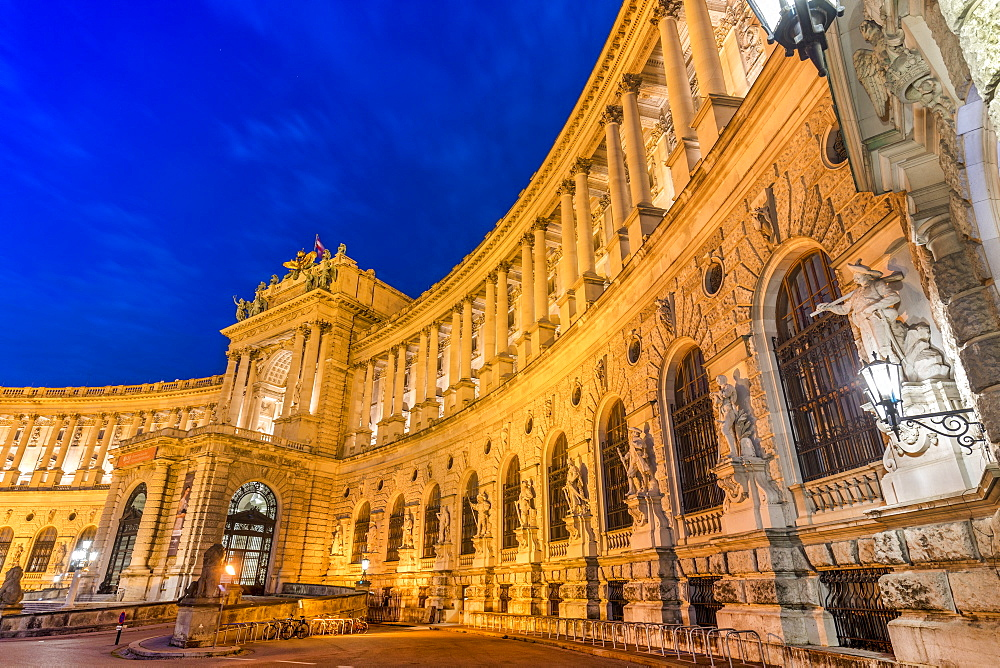 Hofburg at night, Vienna, Austria, Europe. - 1237-224