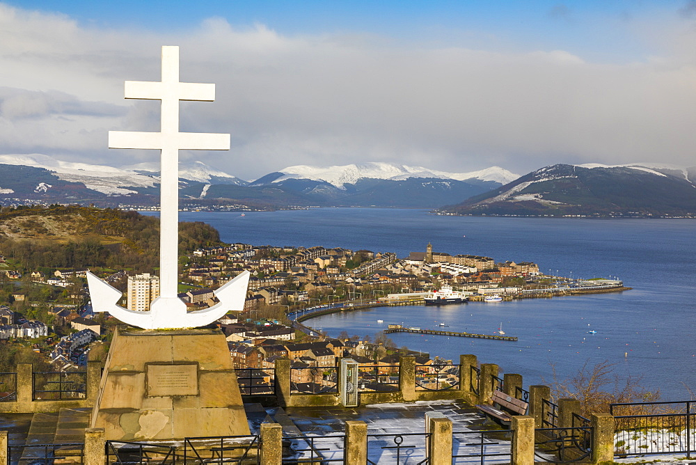 Free French Memorial, Lyle Hill, Greenock, River Clyde, Scotland, United Kingdom, Europe