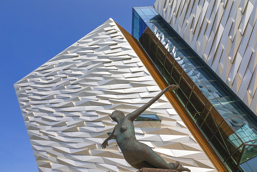 Titanica scuplture, Titanic Belfast, Belfast, Ulster, Northern Ireland, United Kingdom, Europe